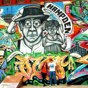 Mural in Baltimore's Hampden neighborhood