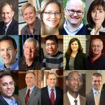 Composite image of more than 20 Bloomberg Distinguished Professors